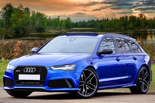 Audi Car with bright windscreen