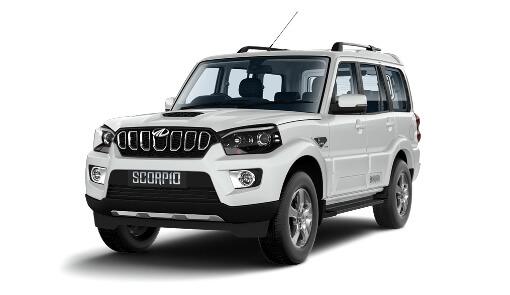 White Mahindra SUV